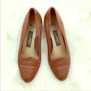 Vintage Woven Brown Loafers